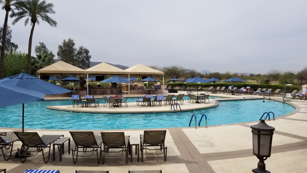 The large pool area isn't overly cluttered and offers plenty of activities for the family.