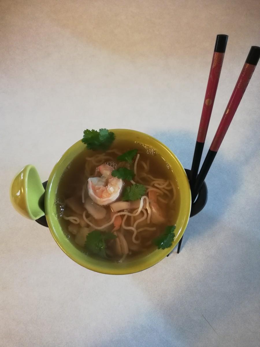 Homemade Low-Carb and Gluten-Free Shrimp Ramen