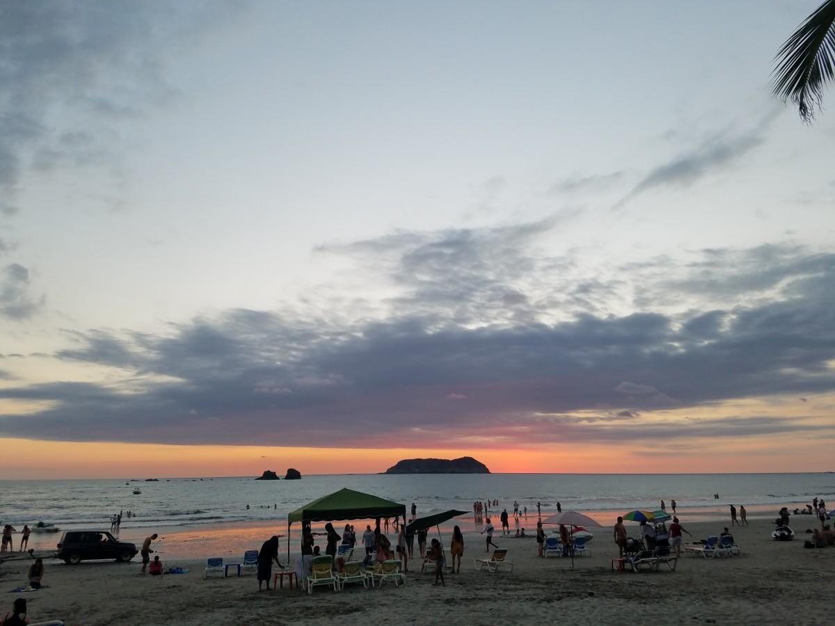 Community Beach At Sunset In Manuel Antonio