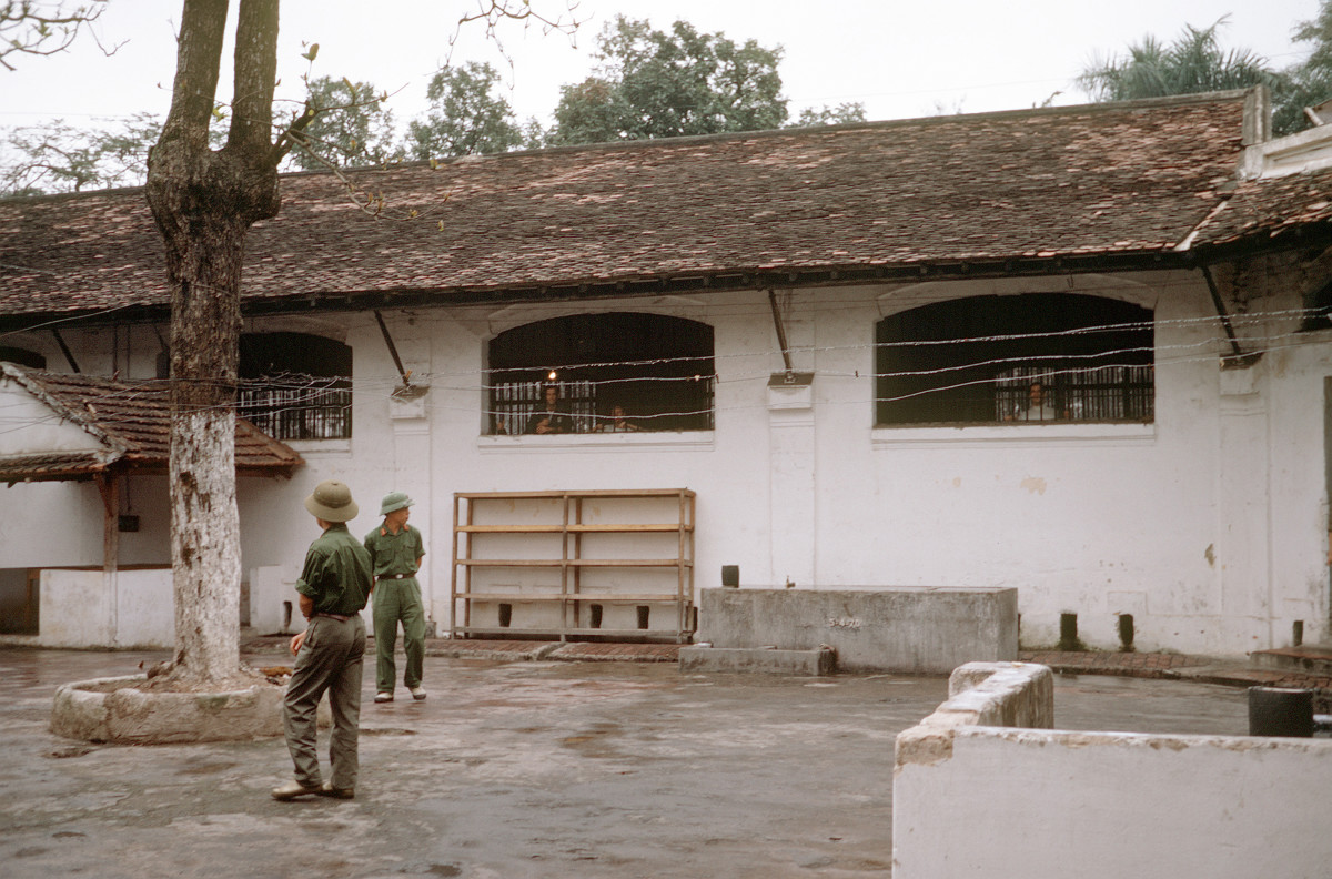 """One of the courtyards of the ,Hỏa Lò Prison, better known as the """"Hanoi Hilton."""""""