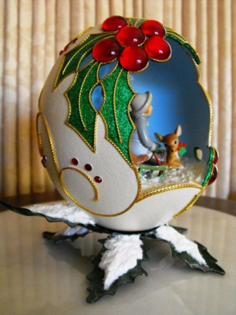 Egg Decoration for Winter Holidays