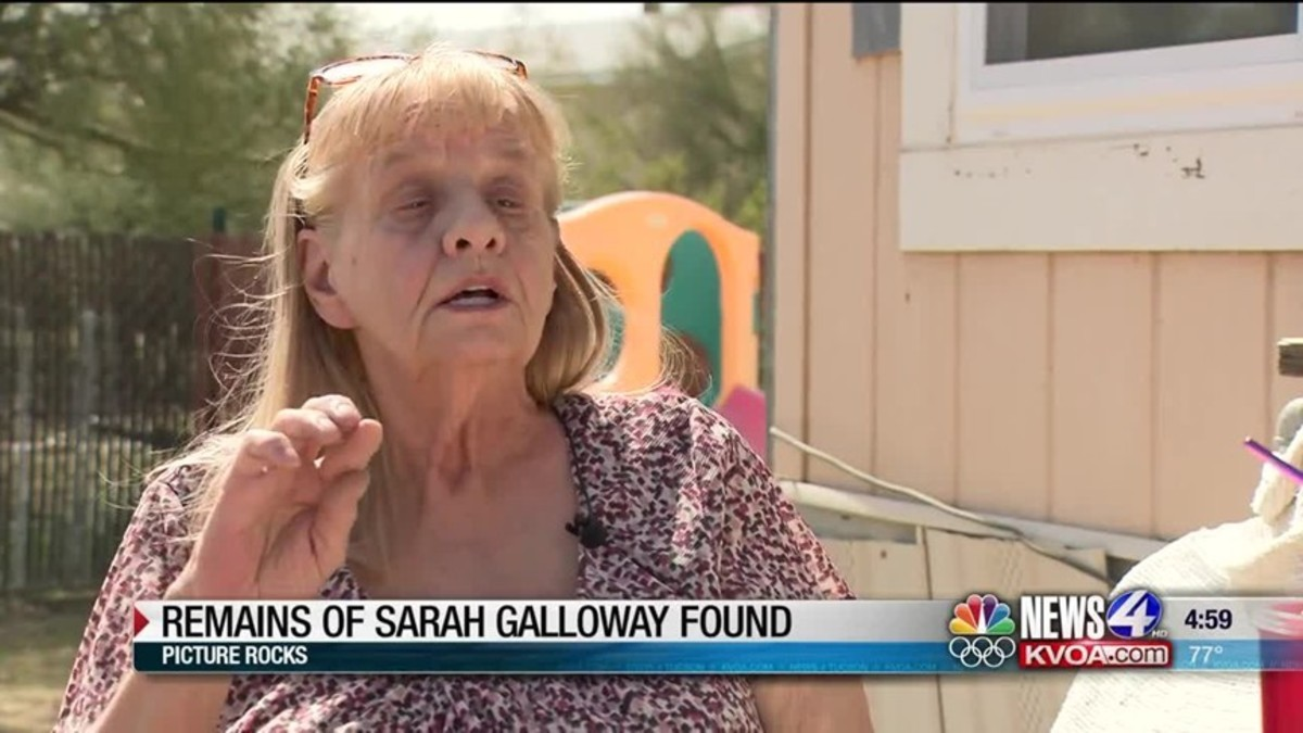 Sherry Galloway meets with a reporter after she received confirmation her missing daughter Sarah's remains were found. Photo courtesy of KVOA News 4.