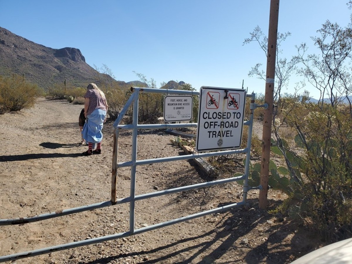 Sherry Galloway visits the path that leads to where Sarah's body was found.