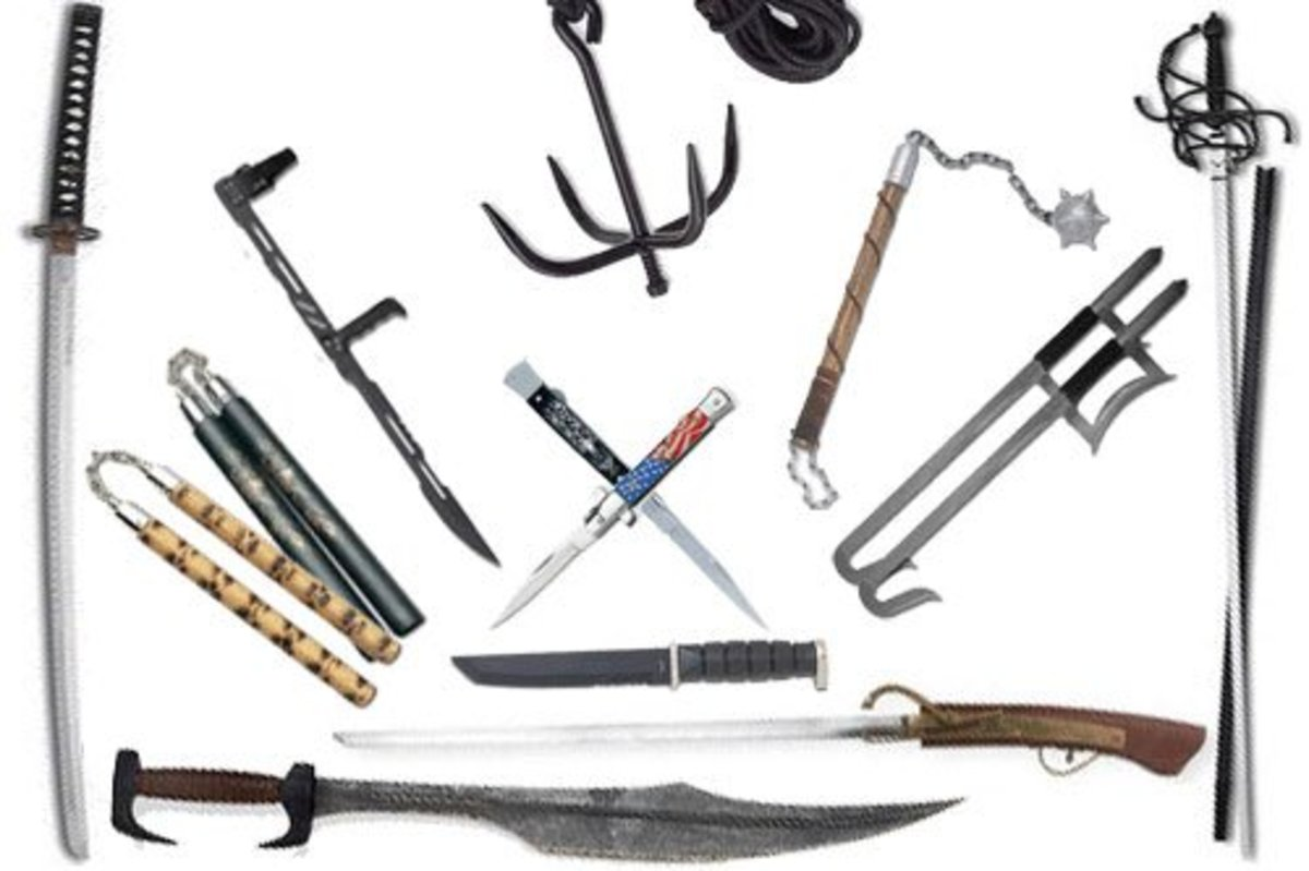 Weapons used in Martial Arts