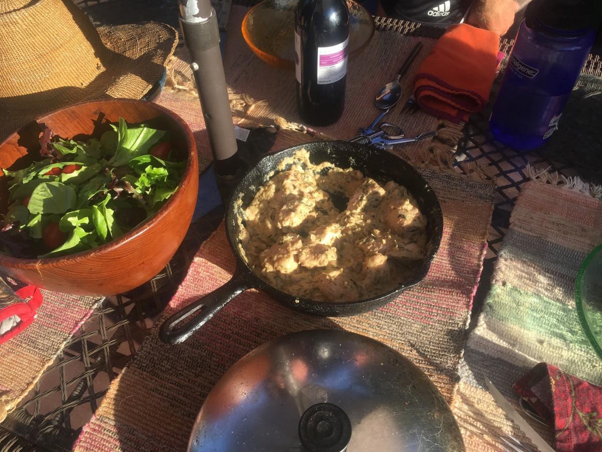 Fried Chicken in a Walnut-Garlic Sauce Recipe