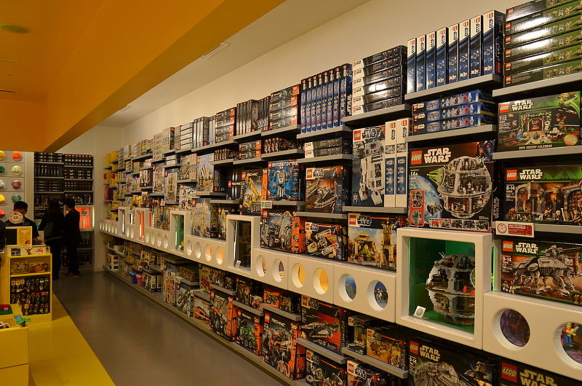 LEGO Wall of Stuff (public domain)