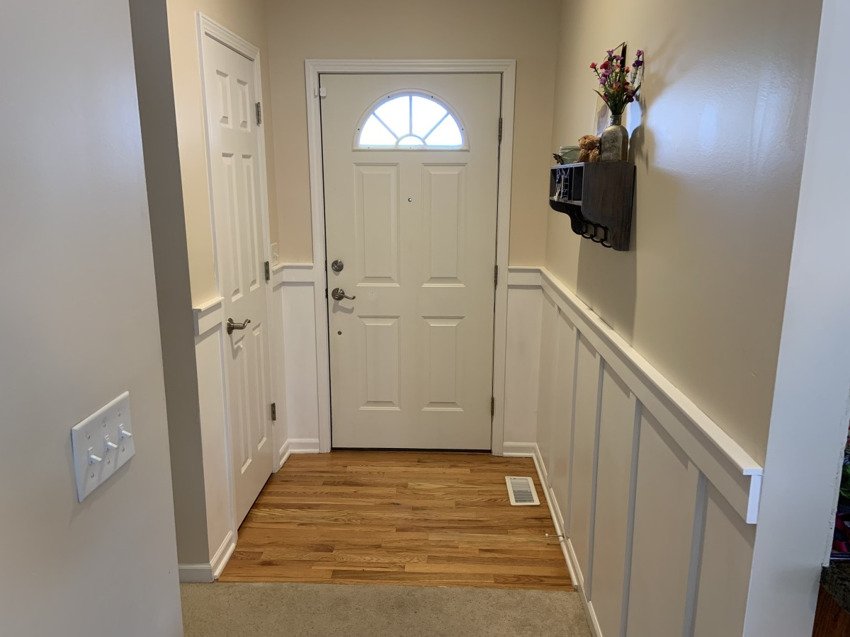 DIY Home Project: Board and Batten Entryway Wall Update