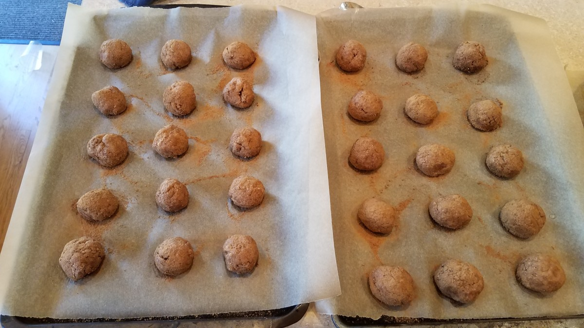 Alternately roll each of your cookies in the cinnamon/sugar mixture.