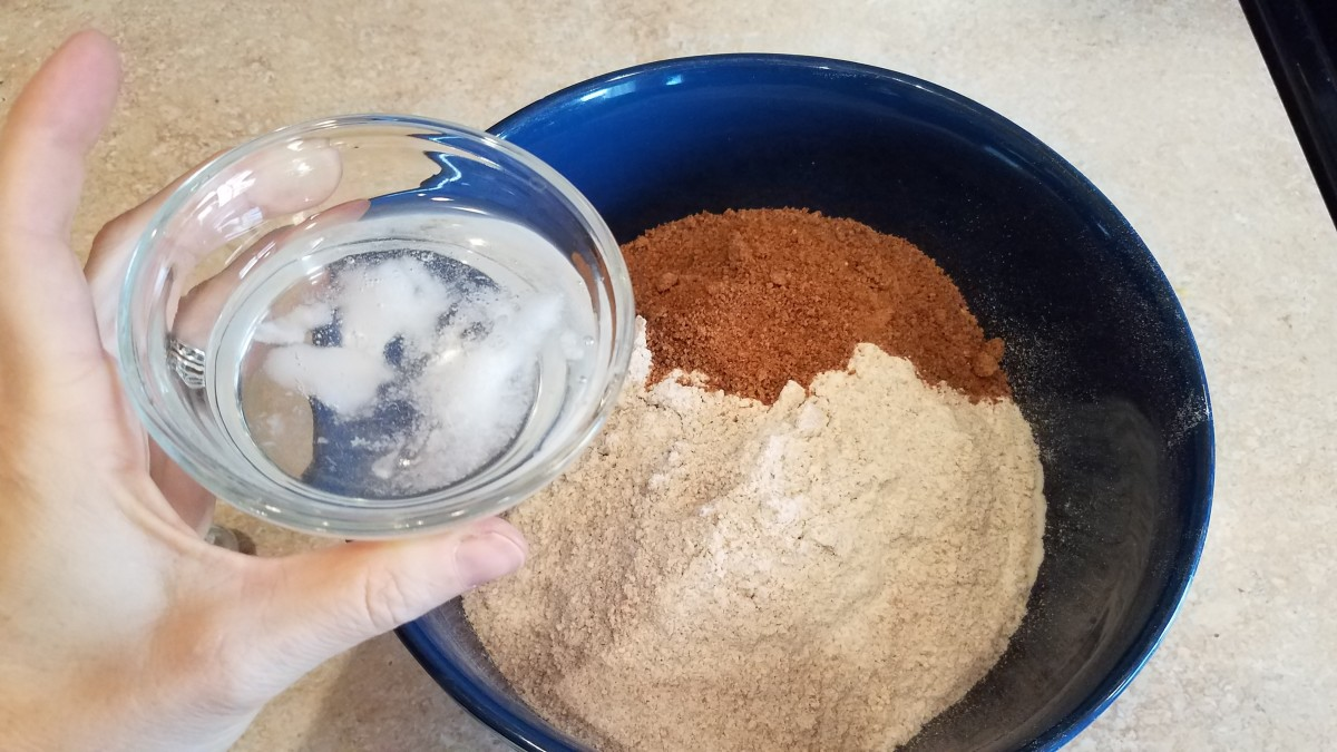 Finally, mix in your melted coconut oil and mix everything until smooth.