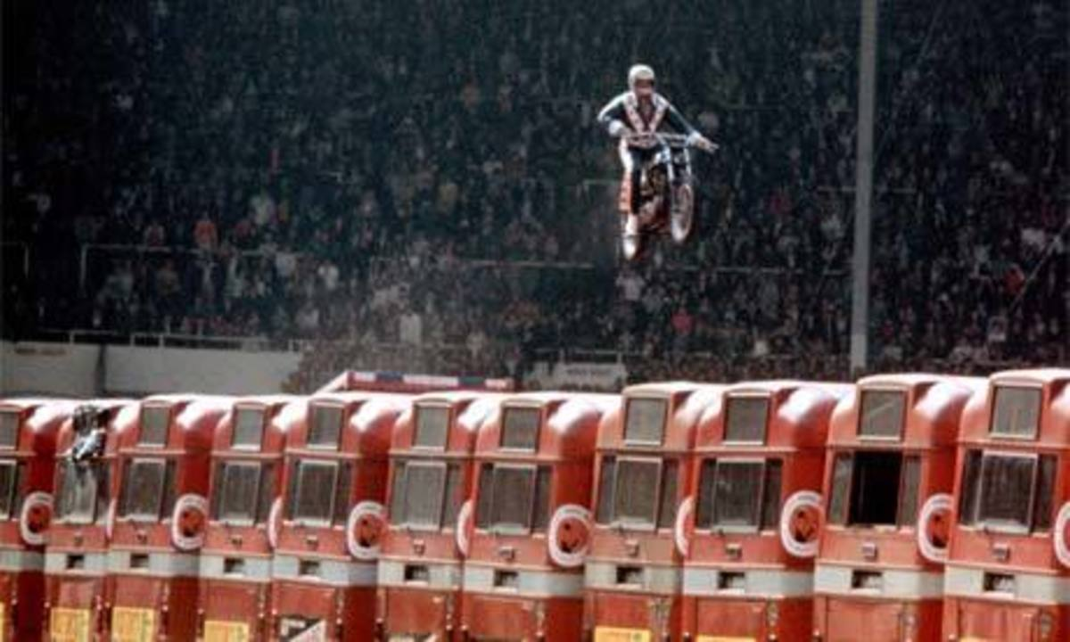 Evel Knievel jump