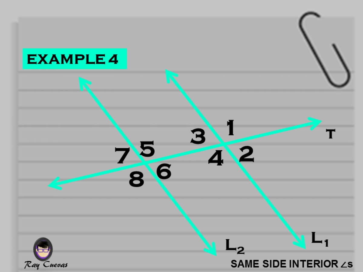 Example 4: Finding the Value of X Given Equations of the Same-Side Interior Angles
