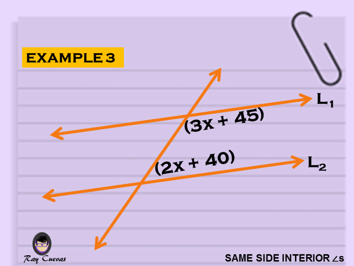 Example 3: Finding the Value of X of Two Same-Side Interior Angles