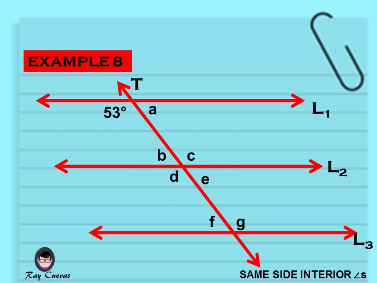 Example 8: Solving for the Angle Measures of Same-Side Interior Angles
