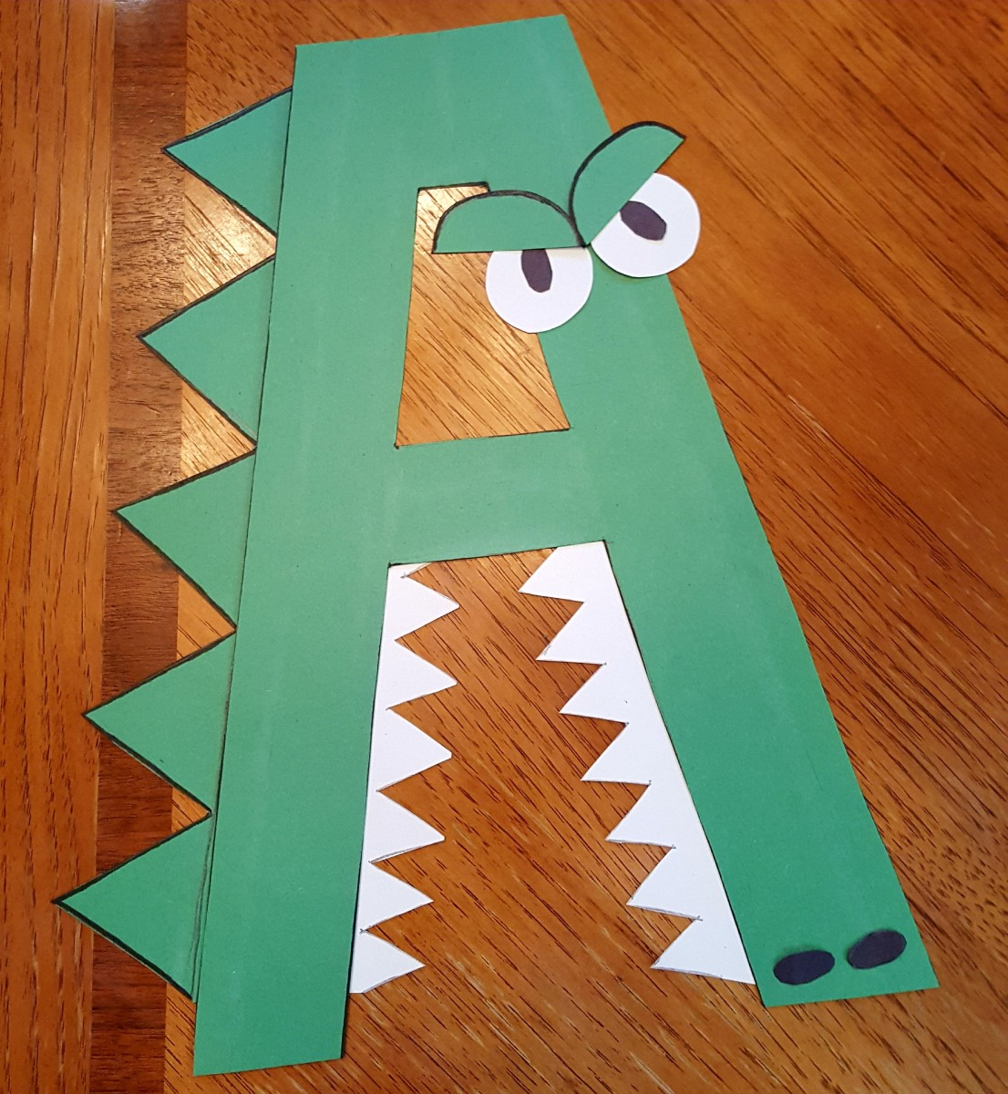 """A"" Is for Alligator (Alphabet Paper Craft for Kids)"