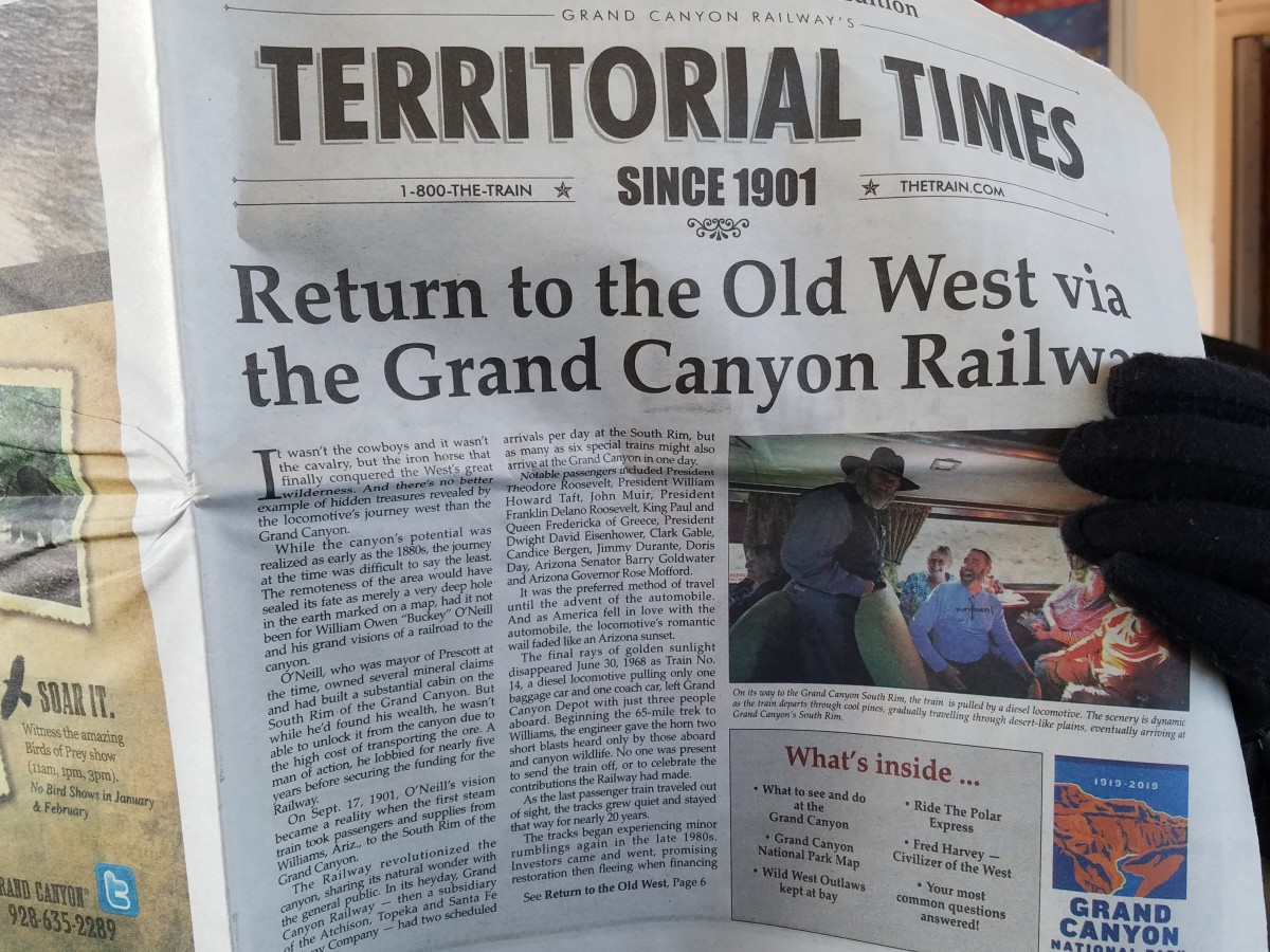 Newspaper found on the train.