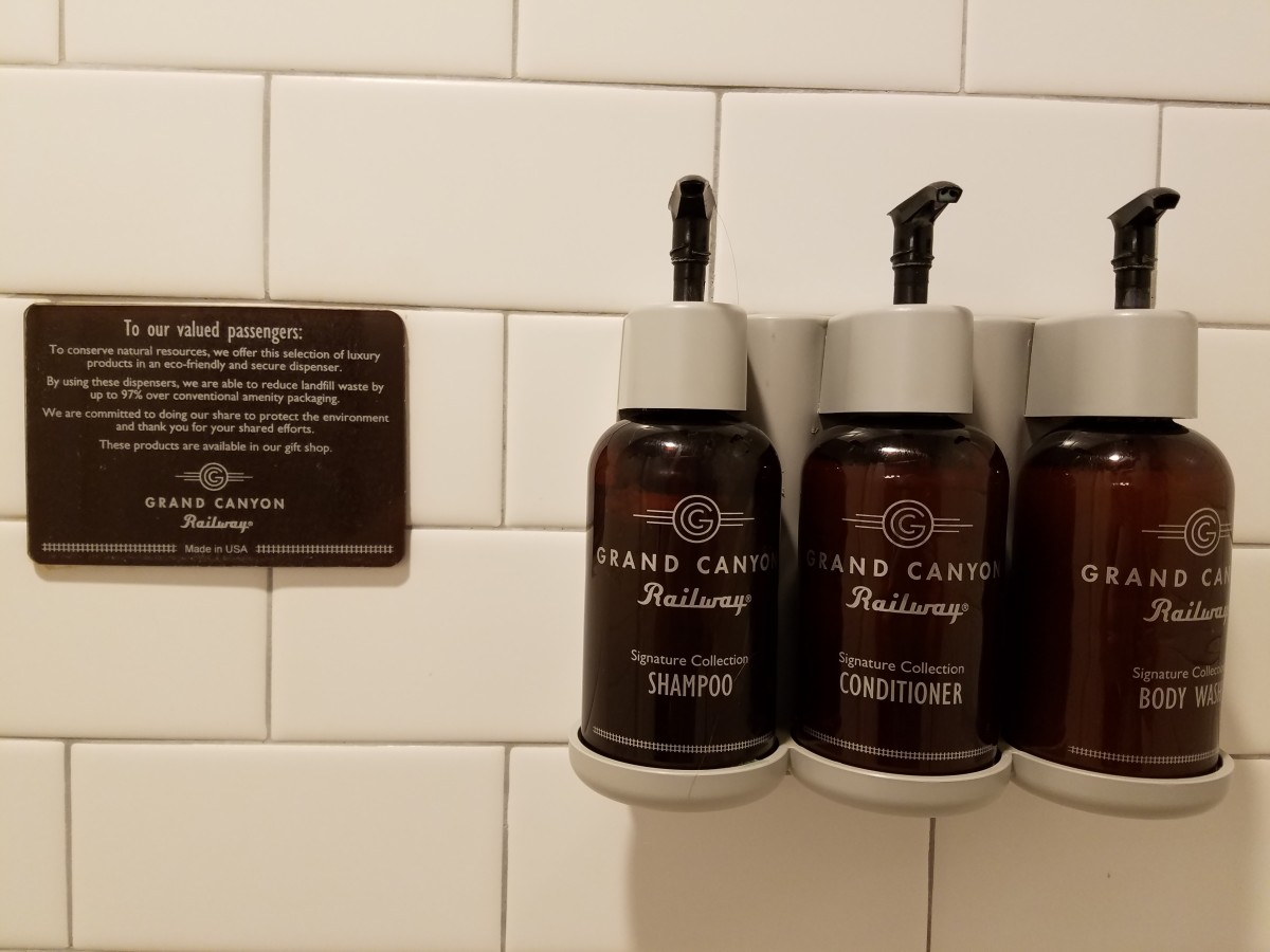 Provided shampoo, conditioner and body wash.