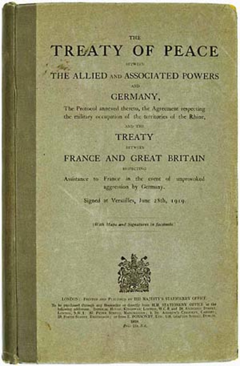 A copy of the treaty that spelled the doom of repeated history.