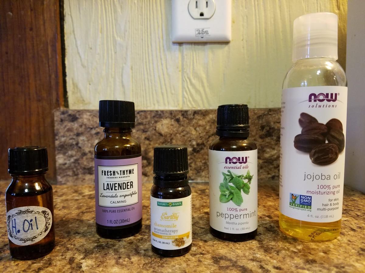 Hemorrhoid oil