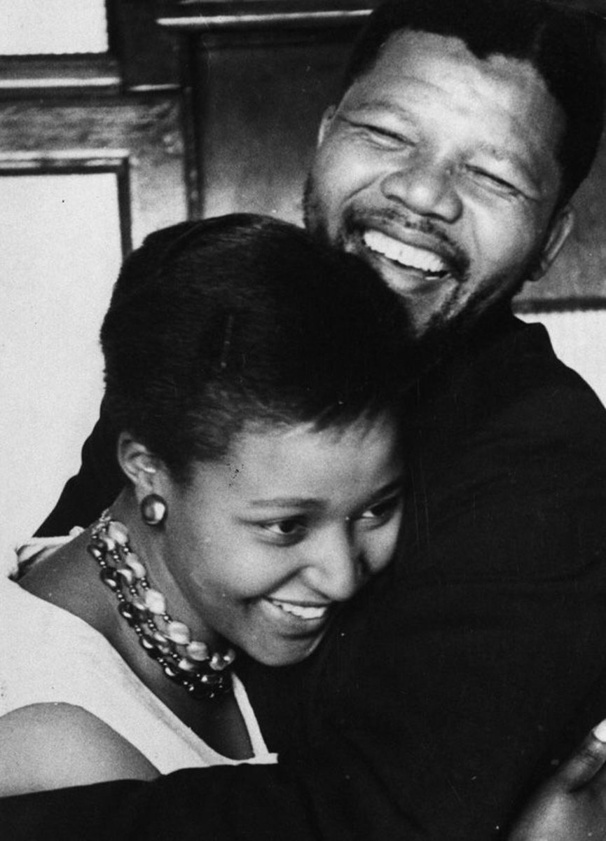 Young Nelson and Winnie Mandela