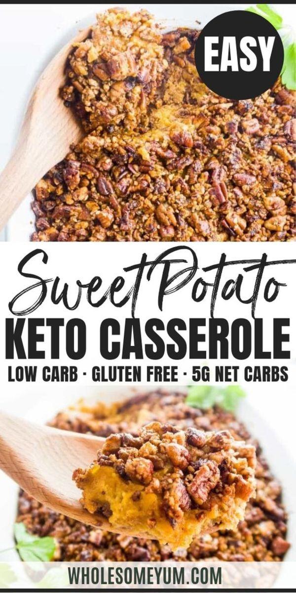 Sweet Potato Keto Casserole by wholesomeyum.com