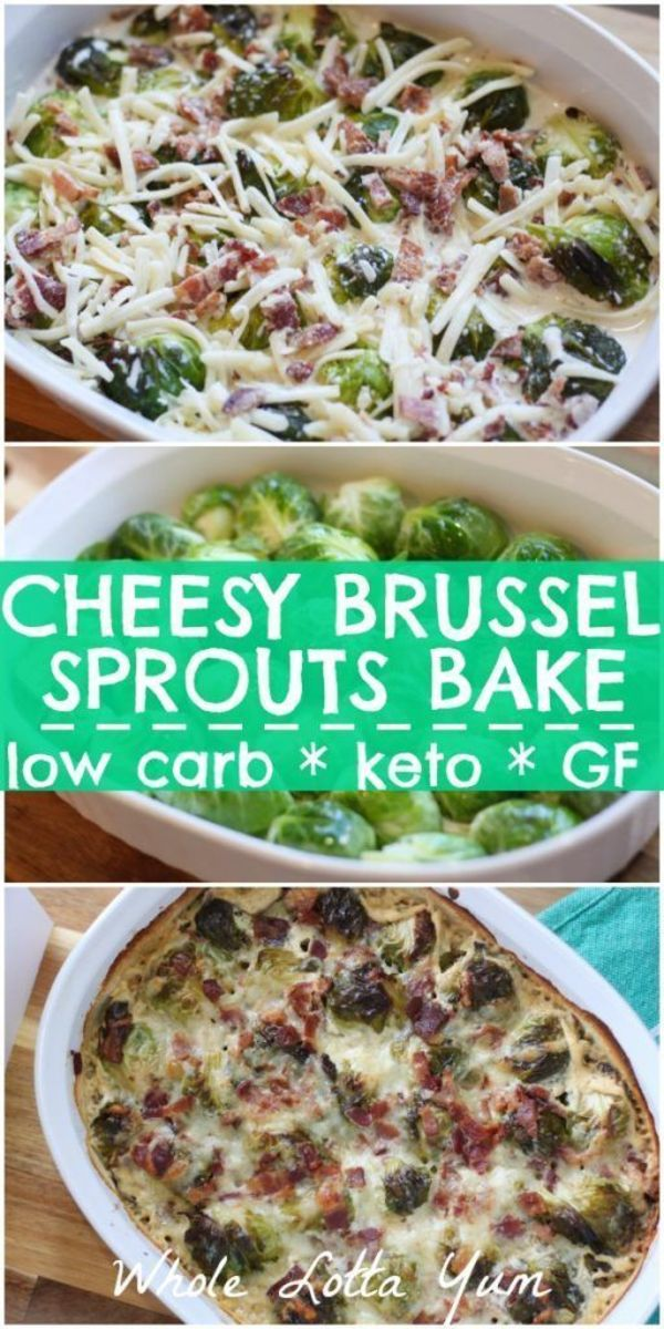 Cheesy Brussel Sprouts Bake by wholelottayum.com