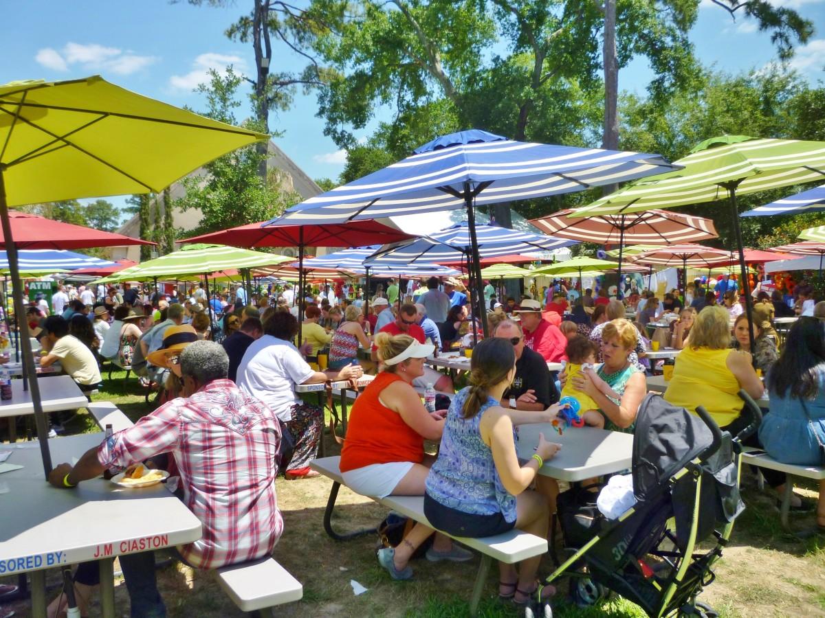 Many Umbrella Tables at the Polish Festival