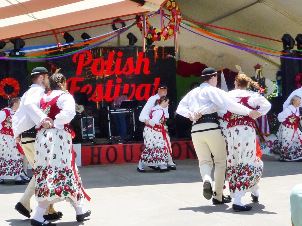 Folk Dancers at the Polish Festival Houston