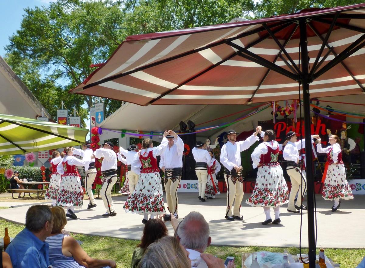 Folk Dancers at the Polish Festival in Houston