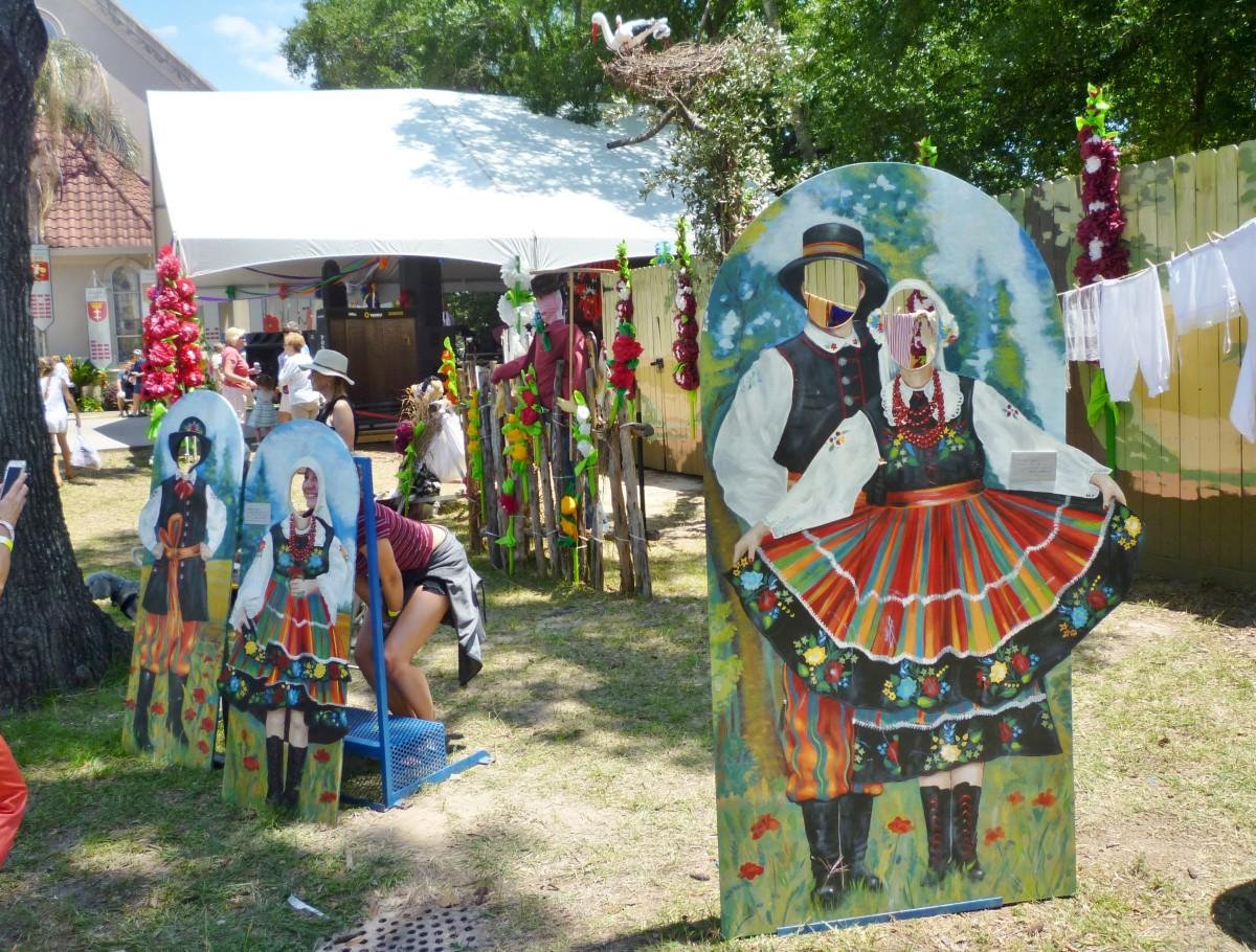 Decorations at the Houston Polish Festival