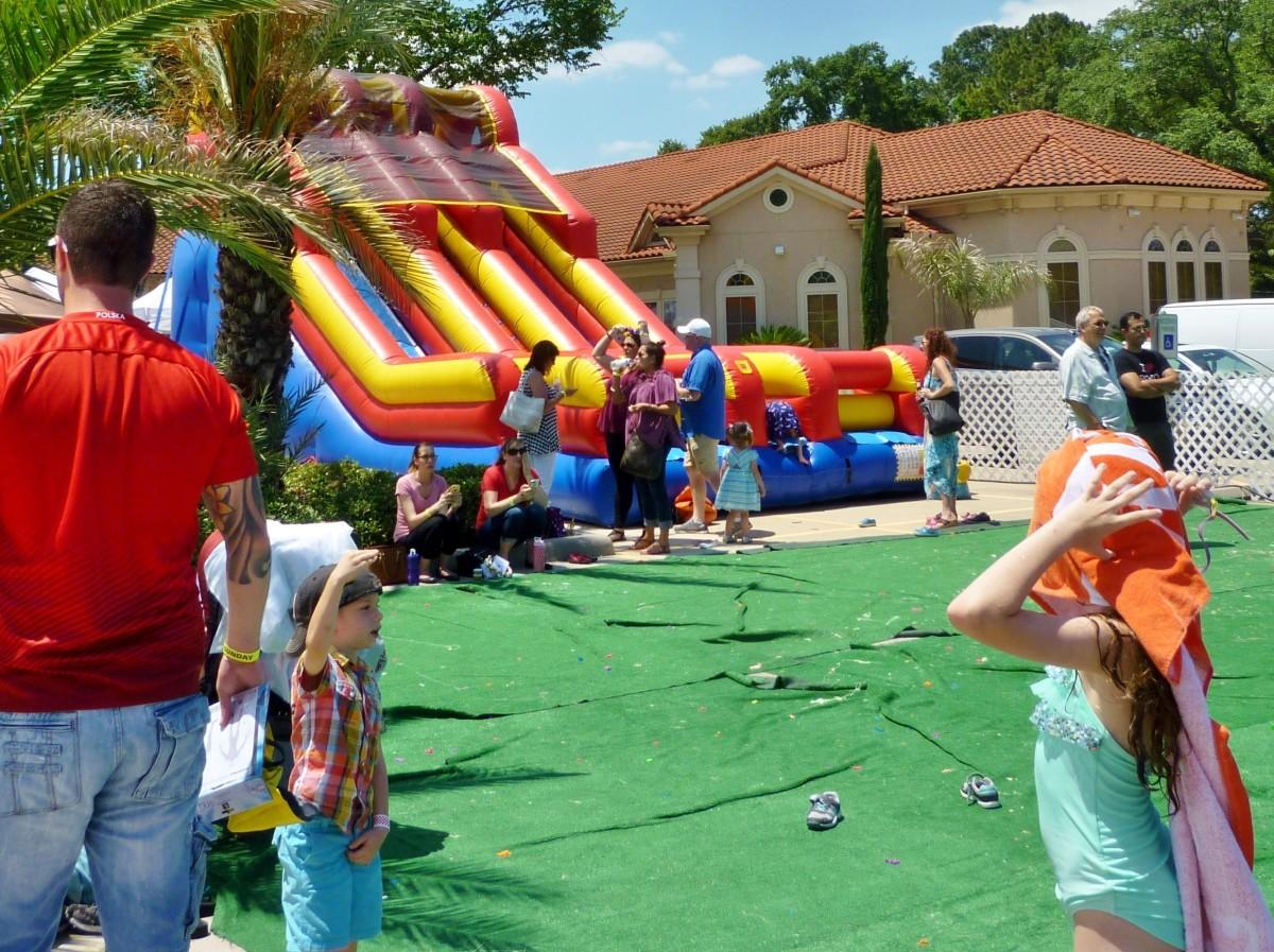 Children's area at Polish Festival Houston