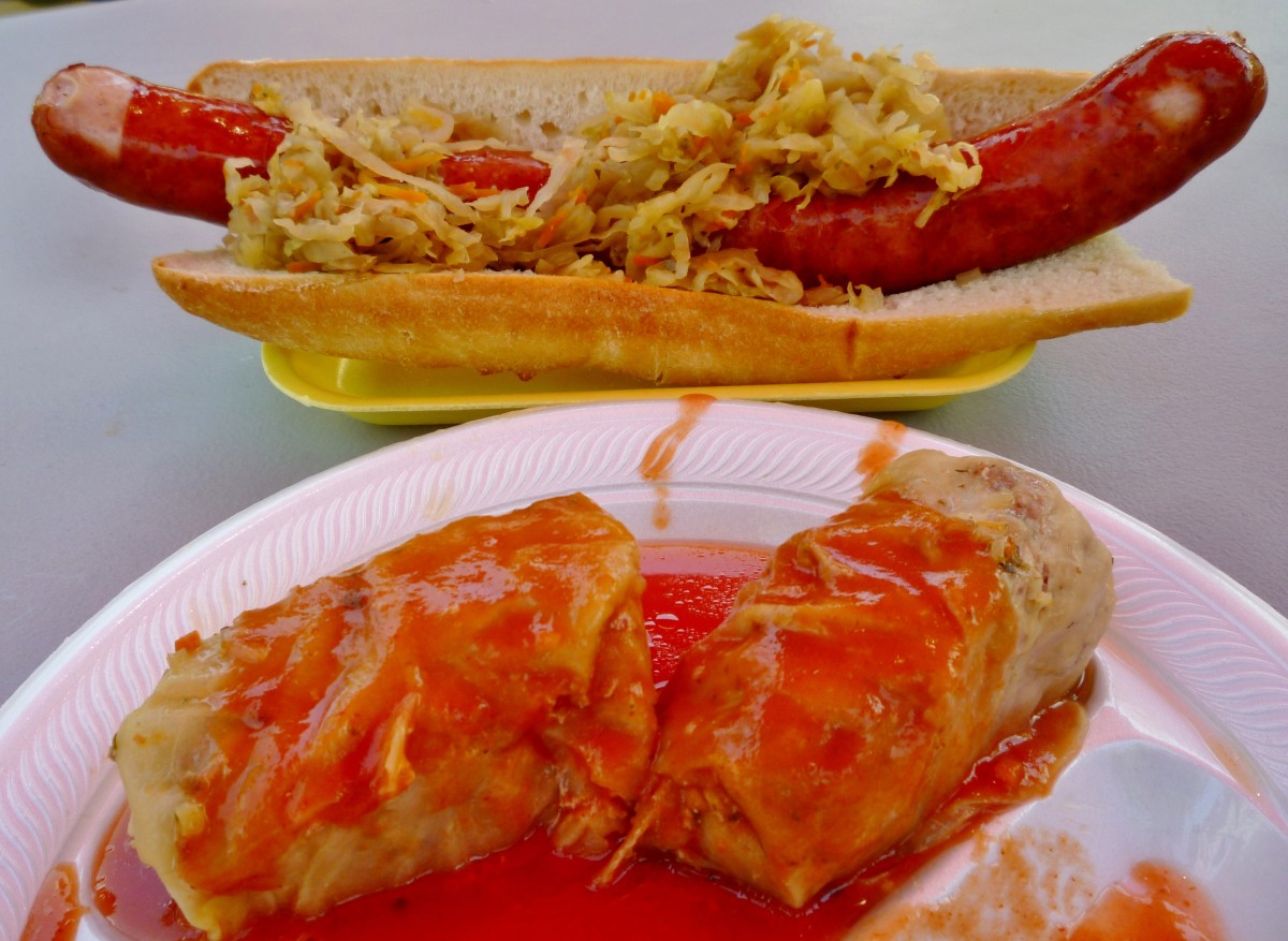 The food we enjoyed at the Polish Festival