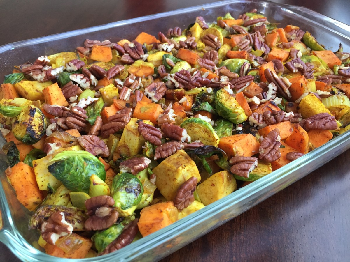 Roasted Sweet Potato, Brussels Sprout Quinoa Recipe