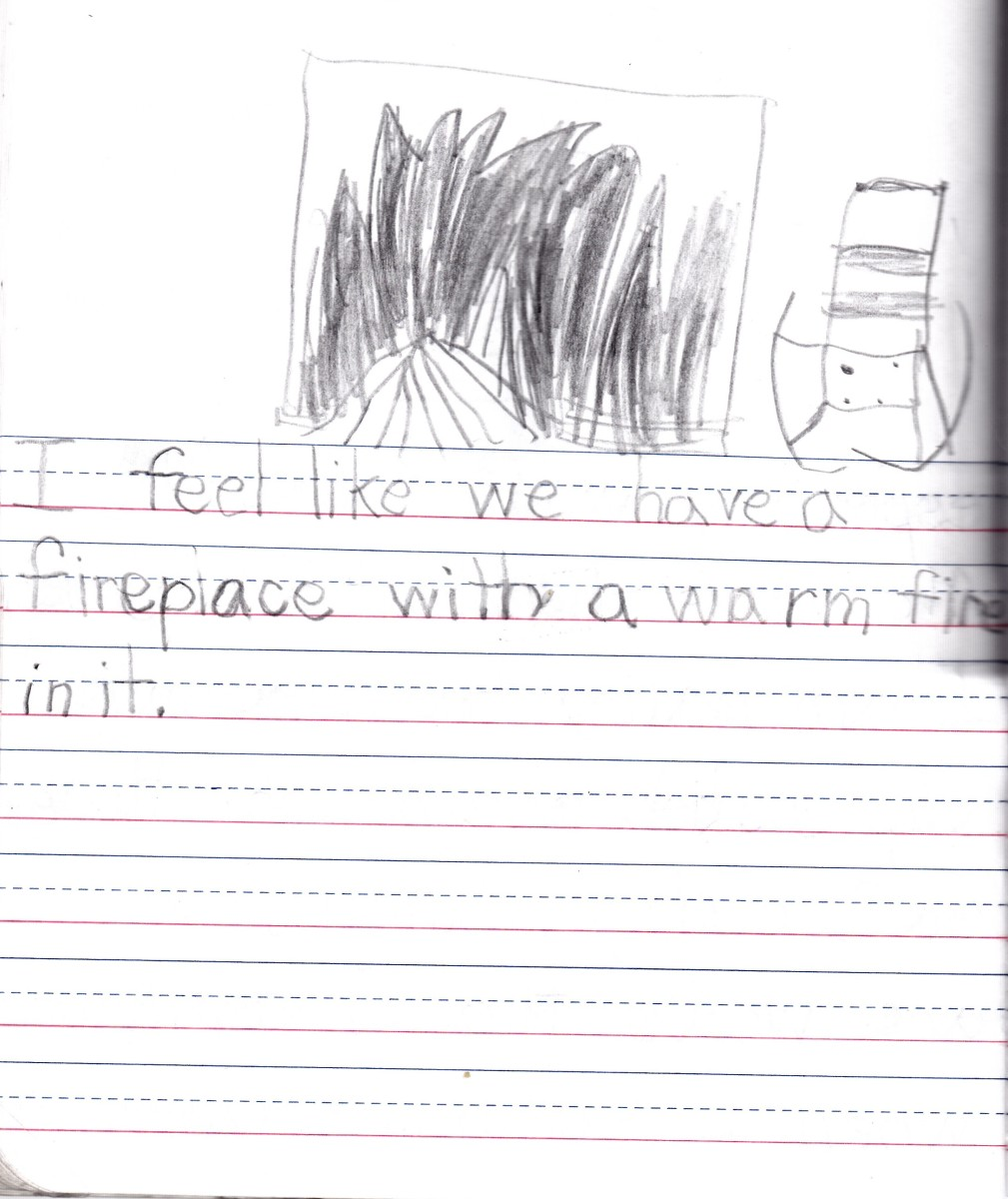 Page 3 of my daughter's journal entry about Chocolate Chip Cookies