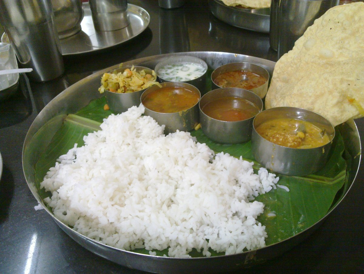 A Typical Madrasi South Indian Meal