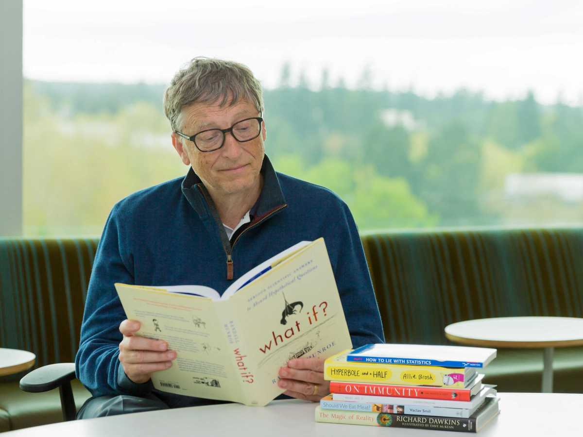 Bill Gates is an avid reader
