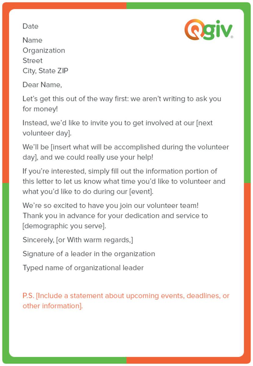 Sample Fundraising Letter