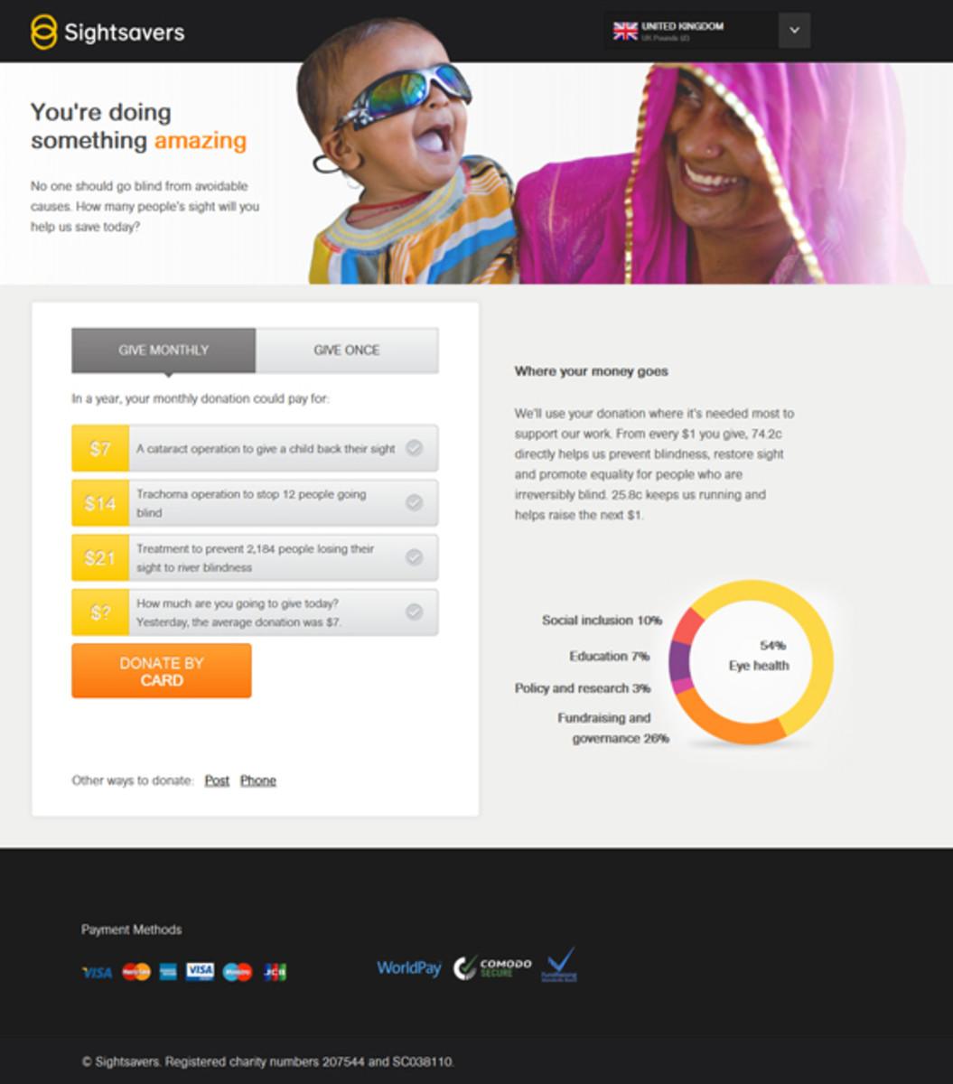 Sample Fundraising Landing Page