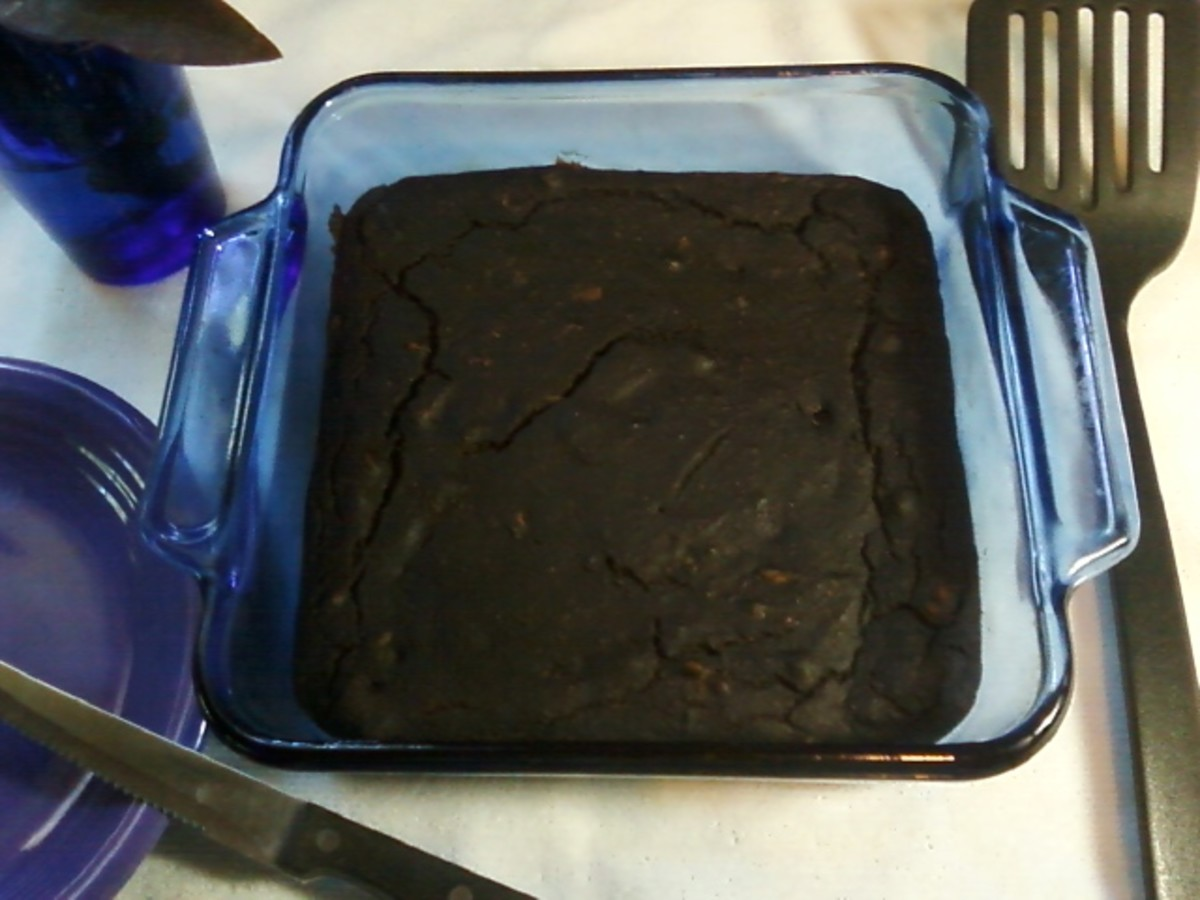 Carob Brownies Recipe for Vegans
