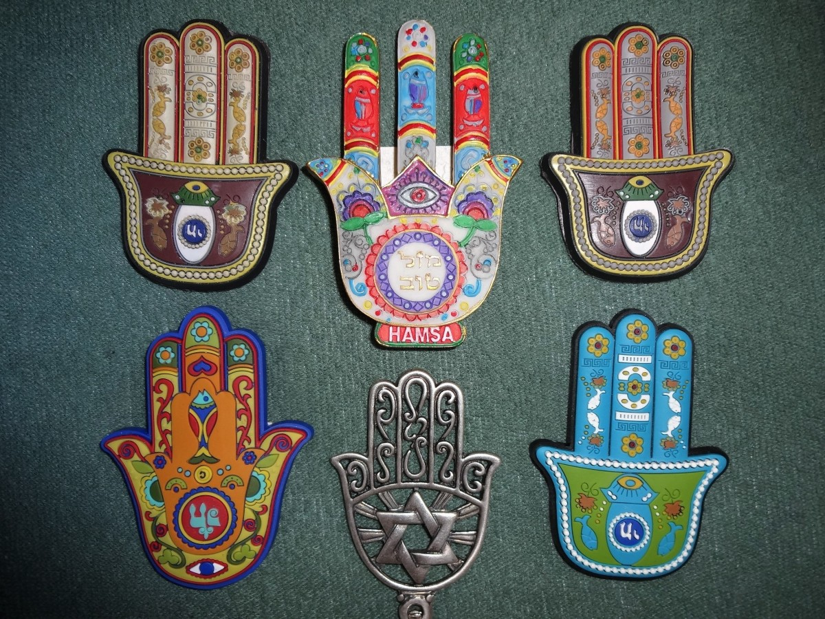 The Hamsa Hand is a symbol commonly used in apotropaic magick. Attribution requires this license information to be shared: CC by SA 3.0; https://creativecommons.org/licenses/by-sa/3.0/deed.en