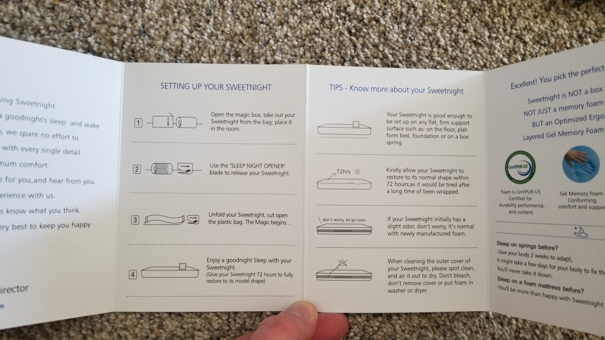 These are the setup instructions included in the box.