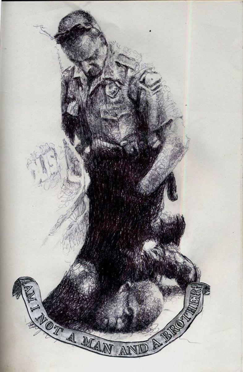 Drawing of George Floyd