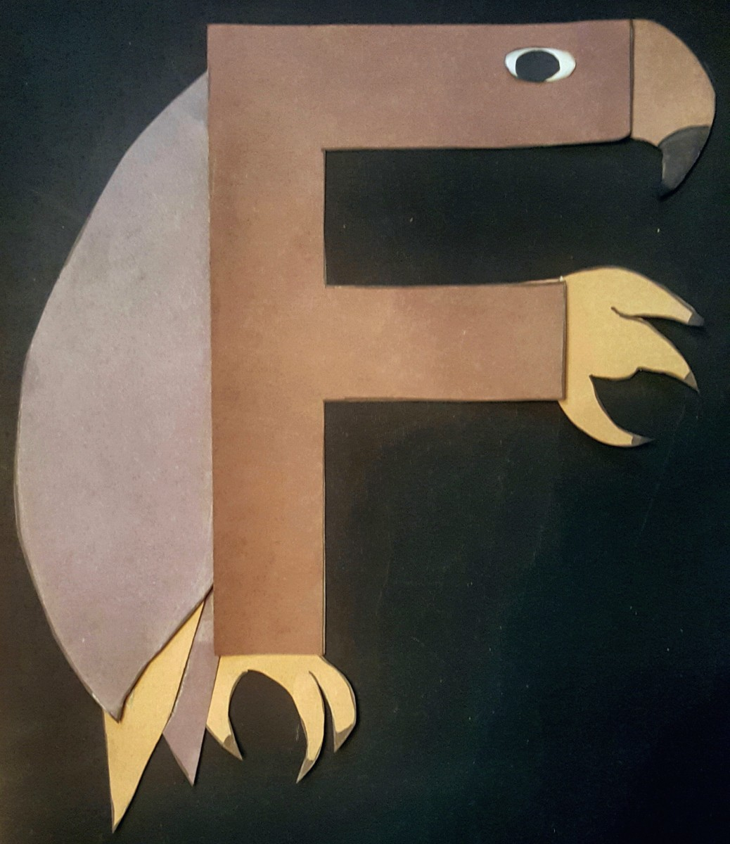 """""""F"""" Is for Falcon (Alphabet Paper Craft for Kids)"""