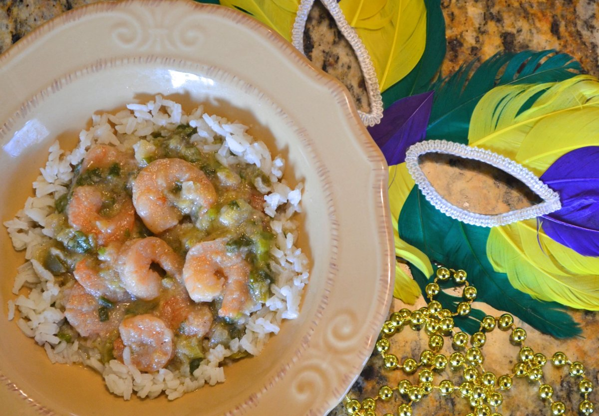 Shrimp etouffee is a rich and delicious addition to your Mardi Gras party, Superbowl Sunday feast, crawfish boil or any cozy evening at home.