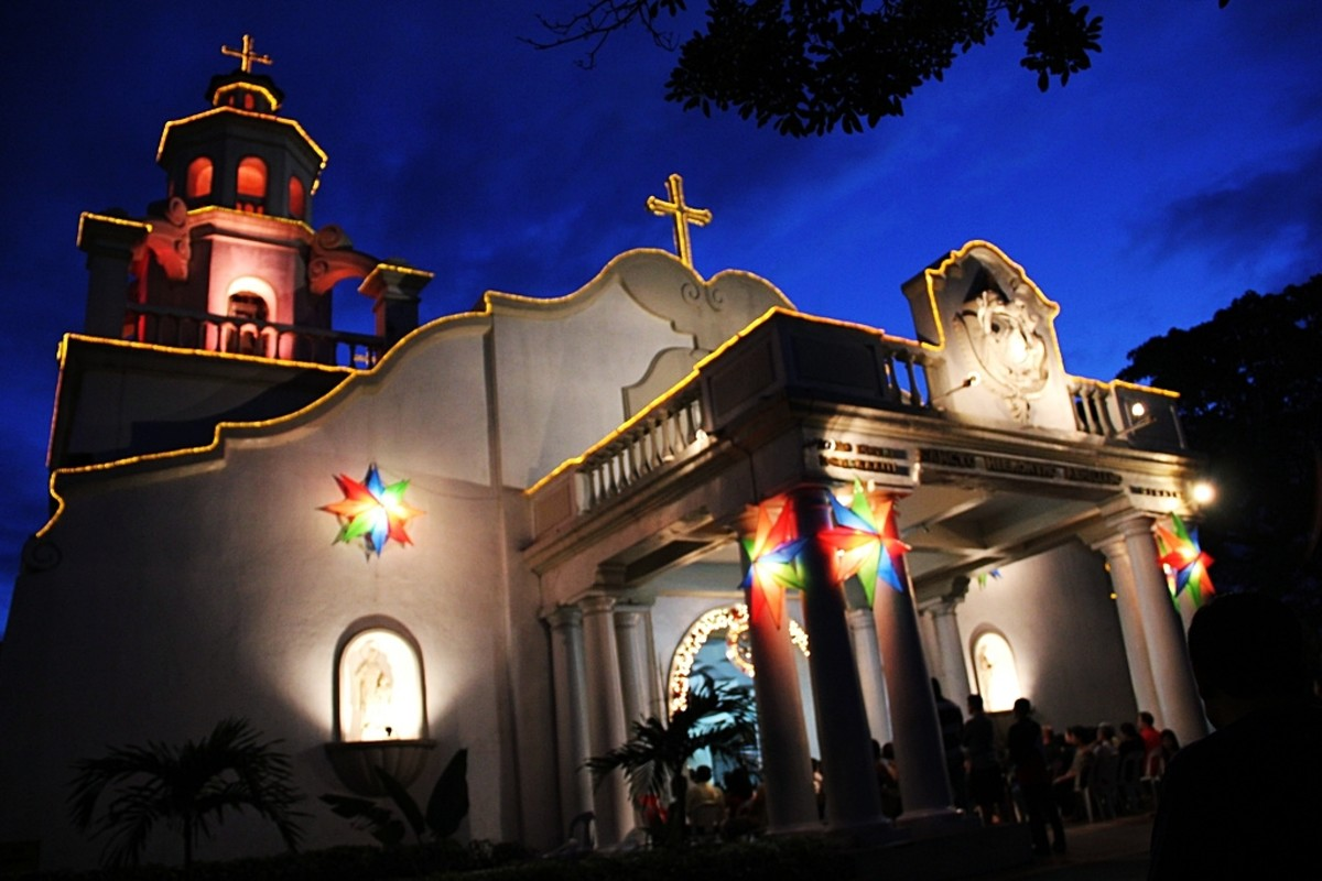 Simbang Gabi or Dawn Mass in a Philippine Catholic Church