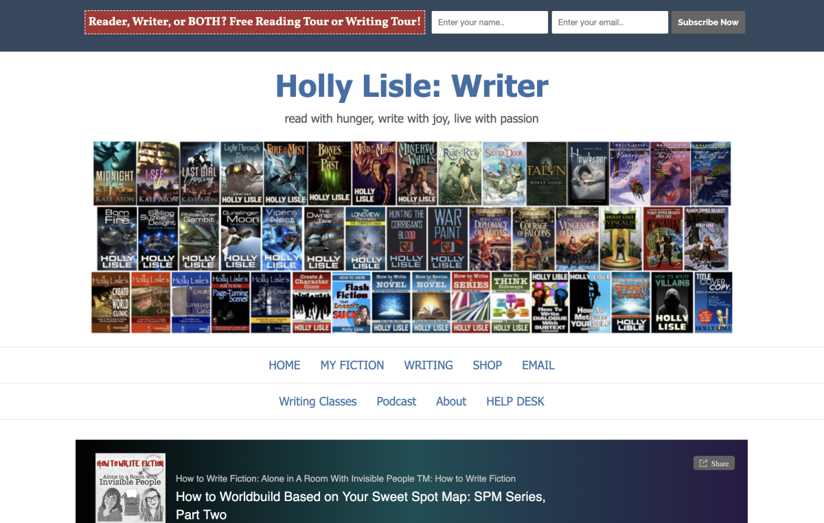 Holly Lisle's website