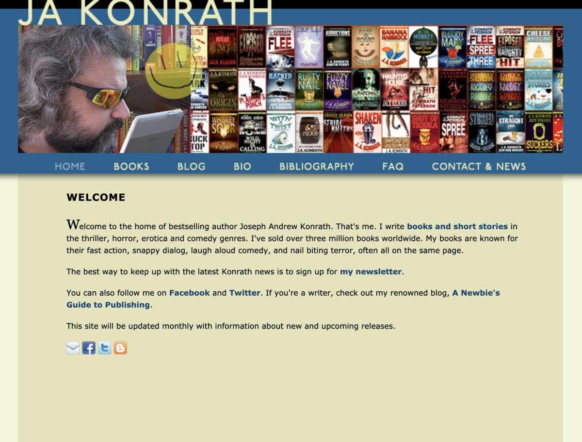 J.A. Konrath's website