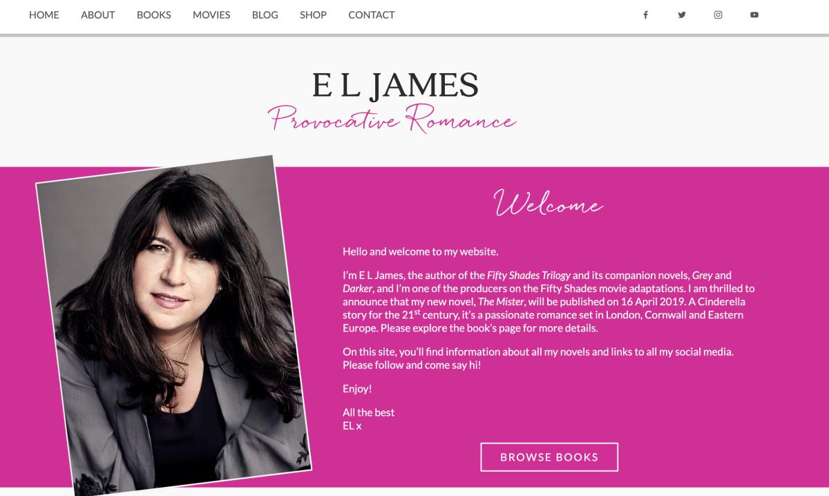 E.L. James' website