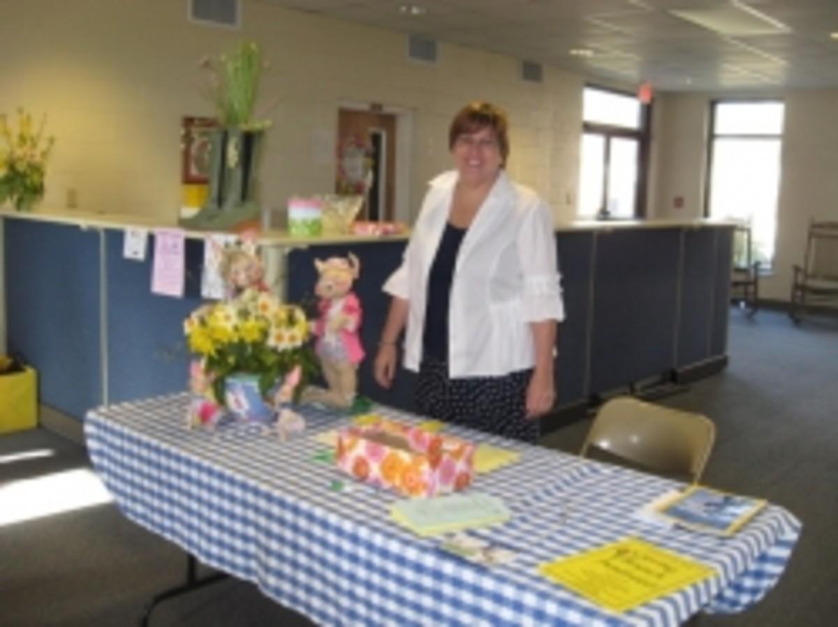 Suerea Wooten Greets Guest For Spring Brunch in Pendleton SC