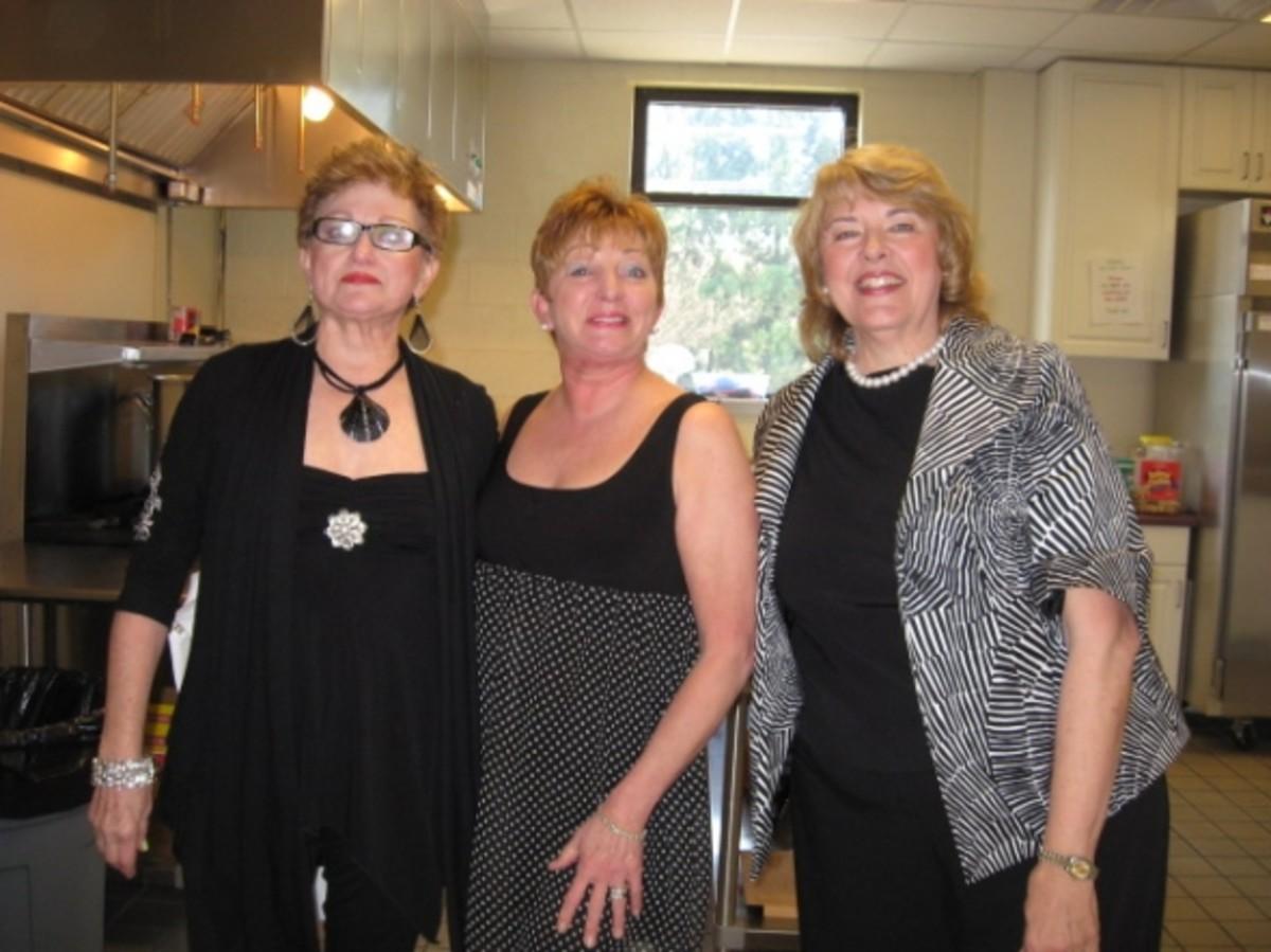 Barbara Ham, Lorett Hayes, and Davie Kirkley