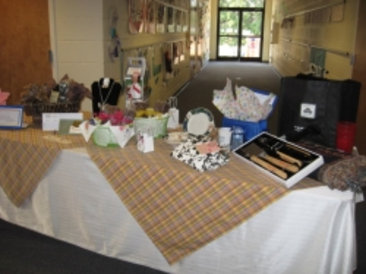 Donated Gifts for Spring Brunch in Pendleton SC